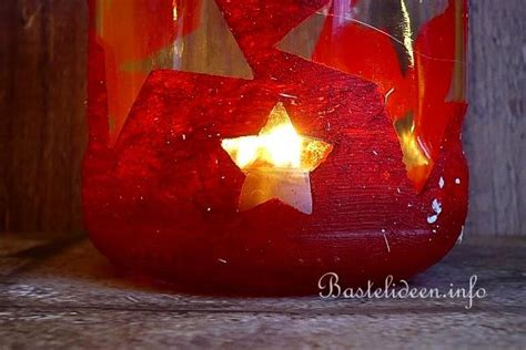 basteln mit gläsern weihnachten recycling windlicht aus einem konservenglas