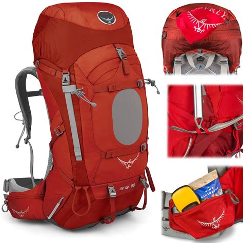 hiking rucksacks osprey ariel 65 hiking rucksack open air cambridge