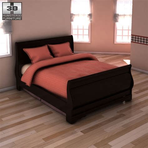 huey vineyard sleigh bedroom set ashley huey vineyard sleigh bedroom set 3d model game