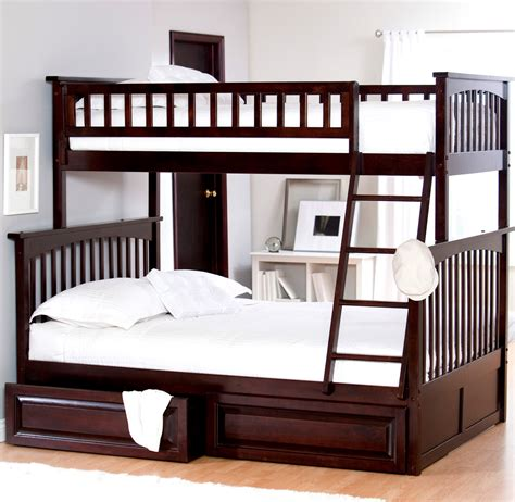low bunk beds with stairs bedroom modern kids with brown espresso wooden low profile