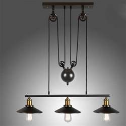 Industrial Island Lighting Tray Adjustable Height Pulldown Island Pendant Retro Industrial Pendant Lights Ceiling