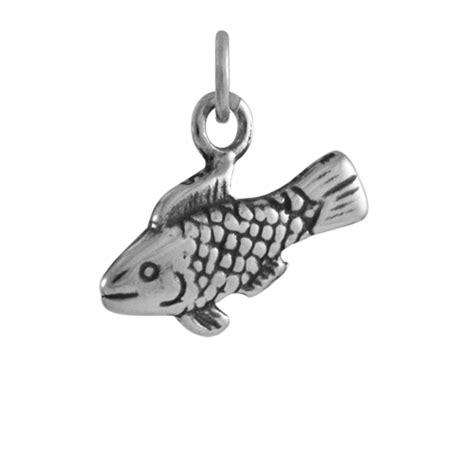sterling silver fish charm thecharmworks