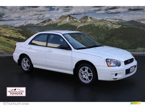 subaru sedan white 2005 aspen white subaru impreza 2 5 rs sedan 55592860