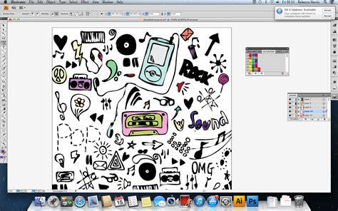 pen tool doodle gcse graphics unit 1 experiment 2 pen tool colour doodle