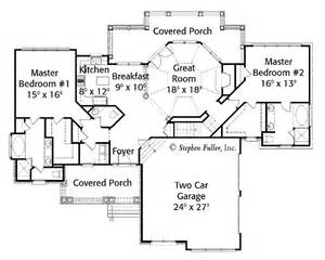House Plans With Two Master Suites by 301 Moved Permanently