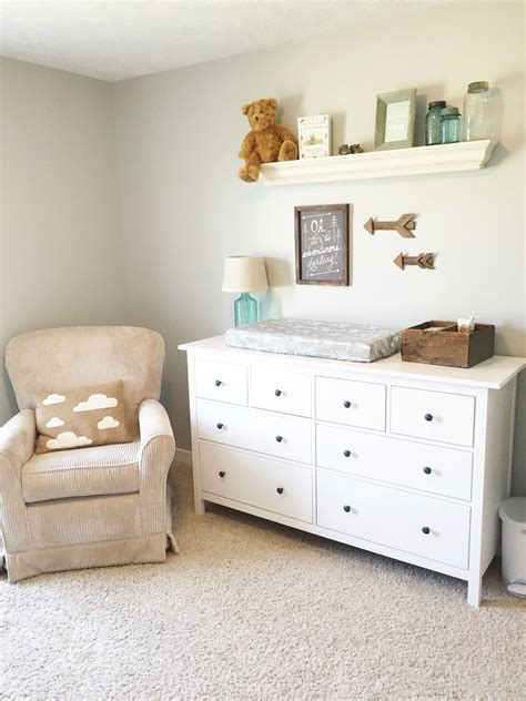 tall dresser for baby room gender neutral nursery reveal the girl in the red shoes