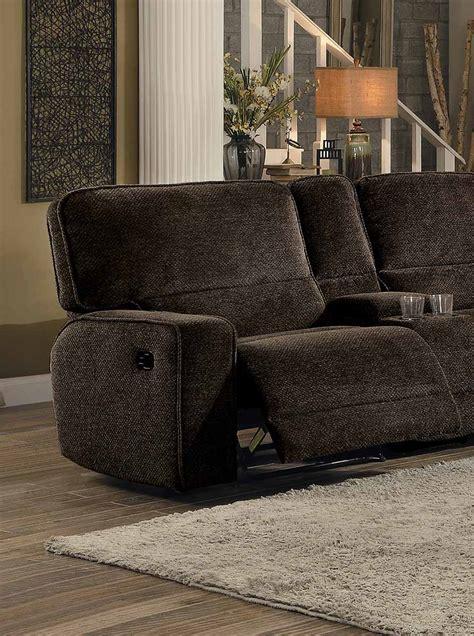 Upholstery Shreveport homelegance shreveport reclining sectional set brown
