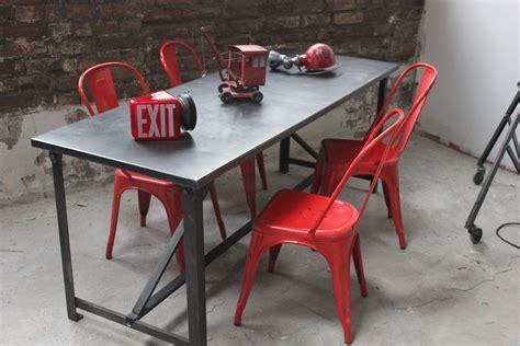 le de bureau industrielle table militaire croisillon bureau metal