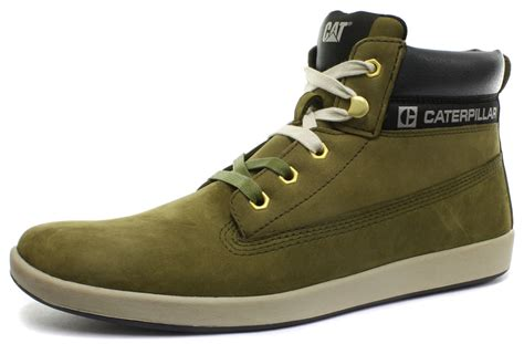 new mens caterpillar poe avacodo leather hi top ankle