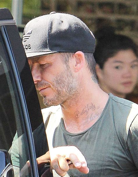 beckham tattoo pretty lady david beckham shows off pretty lady tattoo dedicated to