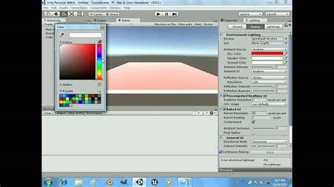 lighting tutorial in unity unity tutorial ambient light youtube