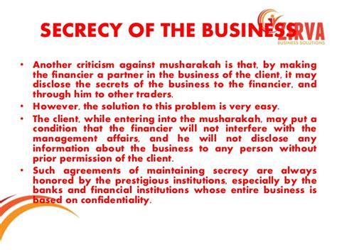 Musharakah Credit Letter musharakah and mudarabah as modes of financing