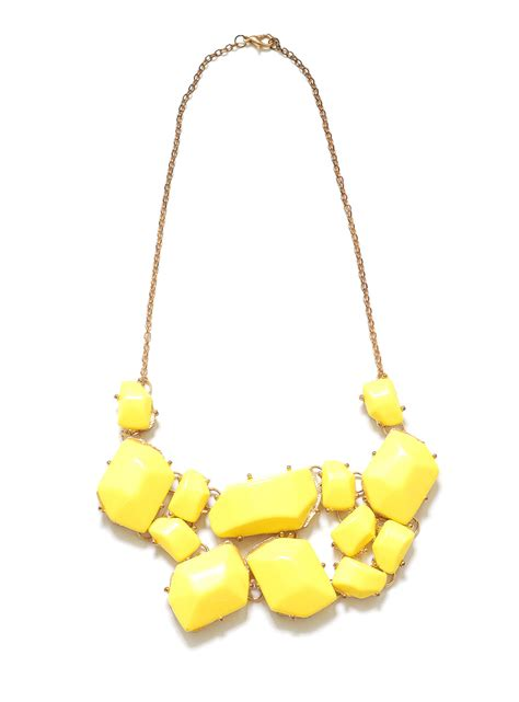 Yellow Neckles yellow statement necklace yellow statement