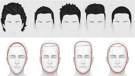 match face shape to hair styles hairstyles for men according to face shape men