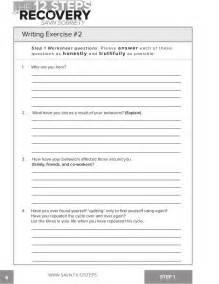 Aa Step Worksheet by 16 Aa Fourth Step Worksheet 7th Step Prayer Of Aa