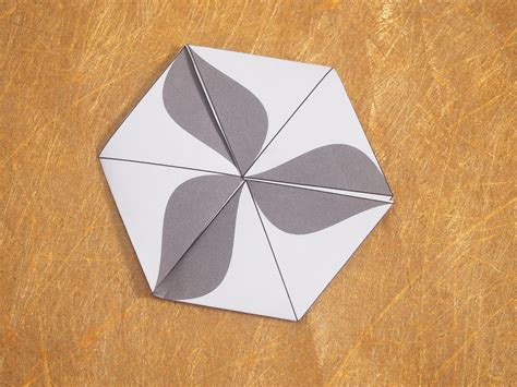 How To Make A Flexagon Out Of Paper - how to make a flexagon 9 steps with pictures wikihow