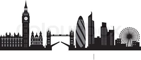 Wall Clock Art by London Skyline Vector Colourbox