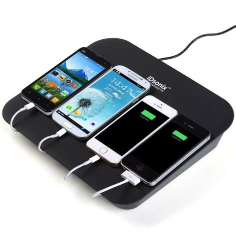 device charging station idsonix 174 multi device 4port charging station with 2x 5v2 1a 2x 5v1a charging port