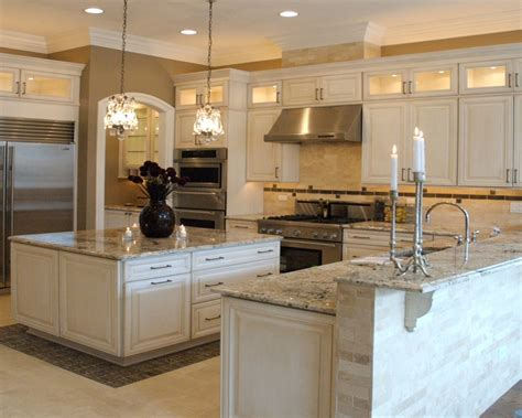 White Kitchen Cabinets Granite Countertops Quicua Com