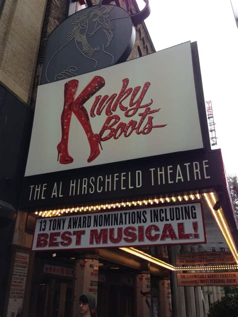 boots nyc theater marquee at the al hirschfeld theatre yelp