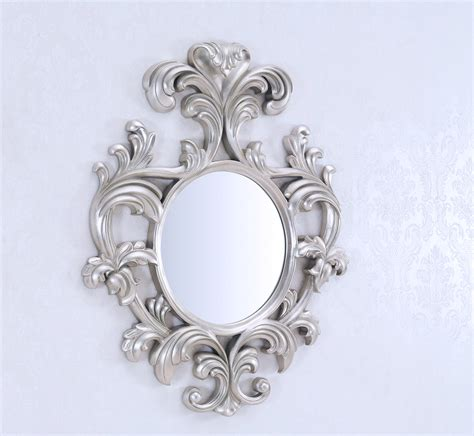 Statues And Sculptures Home Decorating by Decorative Wall Mirror Large Wall Mirror Geneve Silver