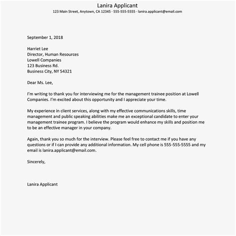 thank you letter to interviewer get tips for writing a thank you letter