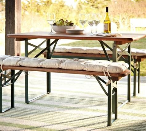 Folding Table And Bench Set Tavern Rectangular Fixed Folding Dining Table And Bench Set Traditional Outdoor Dining Sets