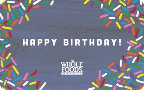 Whole Foods Gift Card Amazon - amazon com whole foods market happy birthday gift cards e mail delivery gift cards