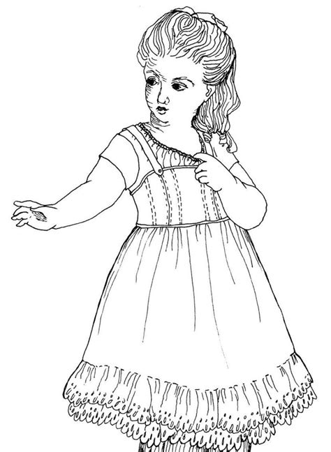 printable coloring pages american girl dolls american girl doll coloring pages for girls fitfru style