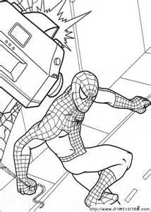 ภาพระบายส spiderman 03