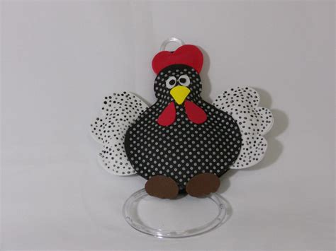 porta prato enfeite peso de porta porta pano prato galinha de angola