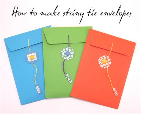 How To Make An Envelope With A Of Paper - craft tutorial how to make a string tie envelope