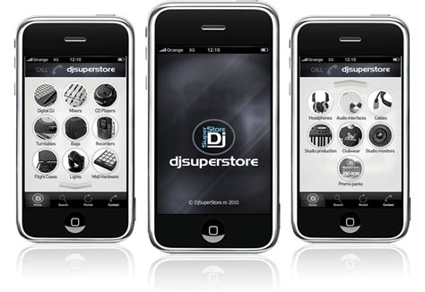 app homepage design djsuperstore iphone application design
