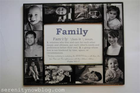 Serenity Now: Keepsake Family Photo Collage Frame Tutorial