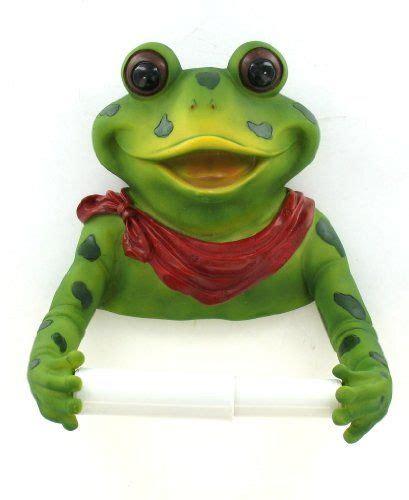 frog bathroom toilet paper holder bow est http www