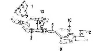 Ford Taurus Exhaust System Diagram 1992 Ford Taurus Parts Ford Parts Center Call 800