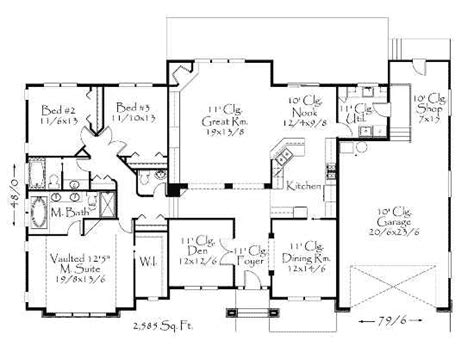 rich house plans rich detailing 8568ms 1st floor master suite cad available den office library