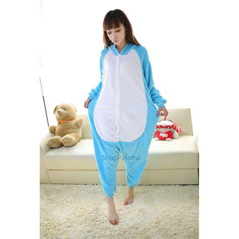 Hippo Sleepwear blue hippo animal unisex pajamas flannel pyjamas onesies