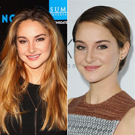 celebrities who cut their hair short before and after pictures shailene woodley do these celebrities look better with