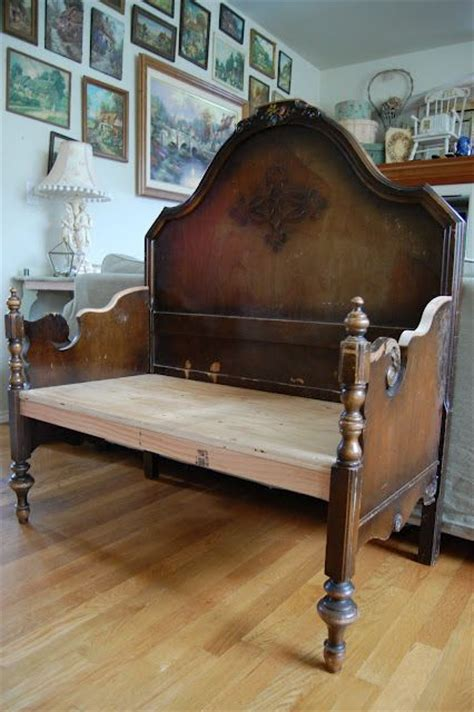 how to make a headboard and footboard bench made of twin size headboard and footboard if you