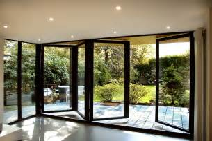 Bifold Doors Creating The Completely Open To Outside Folding Glass Door