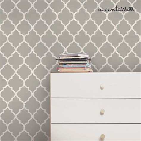 peel and stick wallpaper moroccan grey peel and stick fabric wallpaper repositionable simpleshapes furnishings on artfire