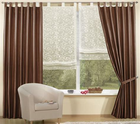 braune gardinen wohnzimmergardinen und vorh 228 nge richtig ausw 228 hlen