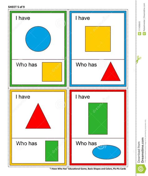 Farben F R Kinder 4429 by Lernspiel F 252 R Kinder Ich Habe Wem Hat Formen Und