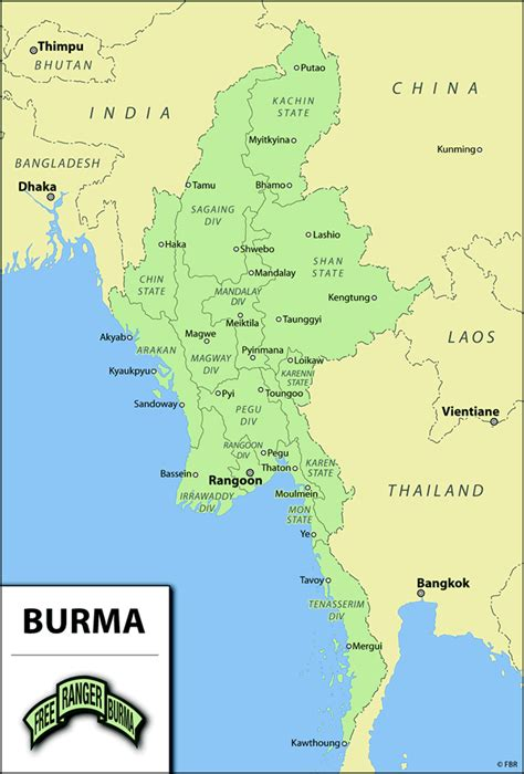 where is myanmar on the map burma picfind bloguez