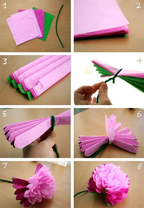 How To Make A Pipe Out Of Paper - week 18 diy tissue paper peony flower doable and