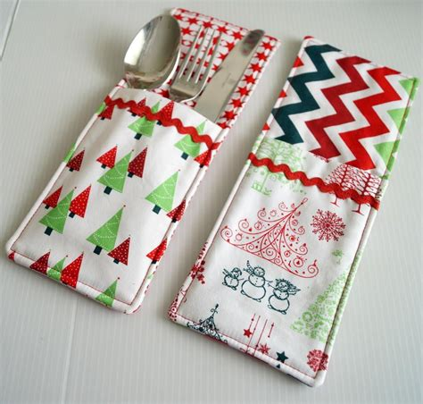 crafts sewing cutlery pockets sewing pattern diy sewing projects