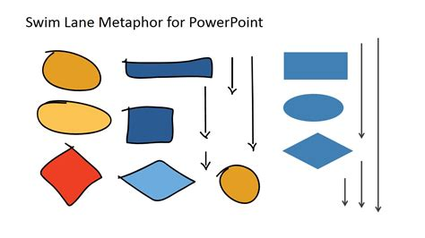swimlane template powerpoint swim diagram for powerpoint slidemodel