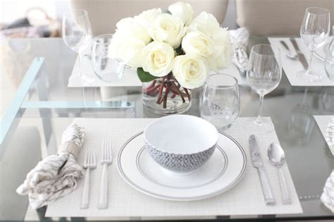 White Table Settings Host An Black White Dinner Fashionable Hostess