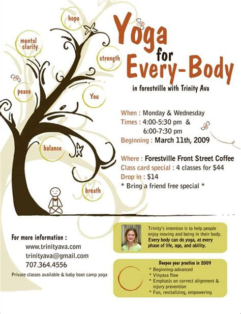 flyer template yoga yoga flyer jpg 772 215 1 007 pixels yoga pinterest trees